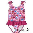 Rózsaszín szívecskés kislány fürdőruha