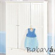 Roba Dreamworld  2 fehér 3 ajtós szekrény