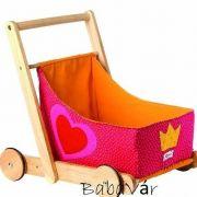 Sigikid Járássegítő Tologatós kiskocsi babáknak