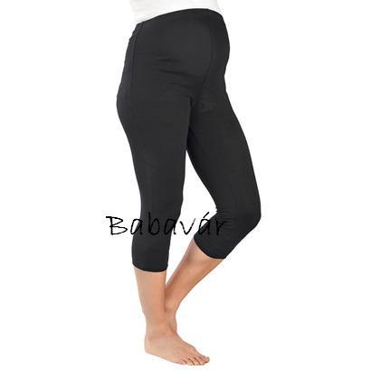 Star Collection kismama capri leggings fekete