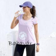 Star Collection lila  rózsaszín Tappancs mintás rövid ujjú póló e1eaec9804