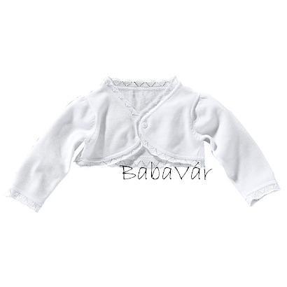Summisum Fehér kötött baba boleró  563331a2a3