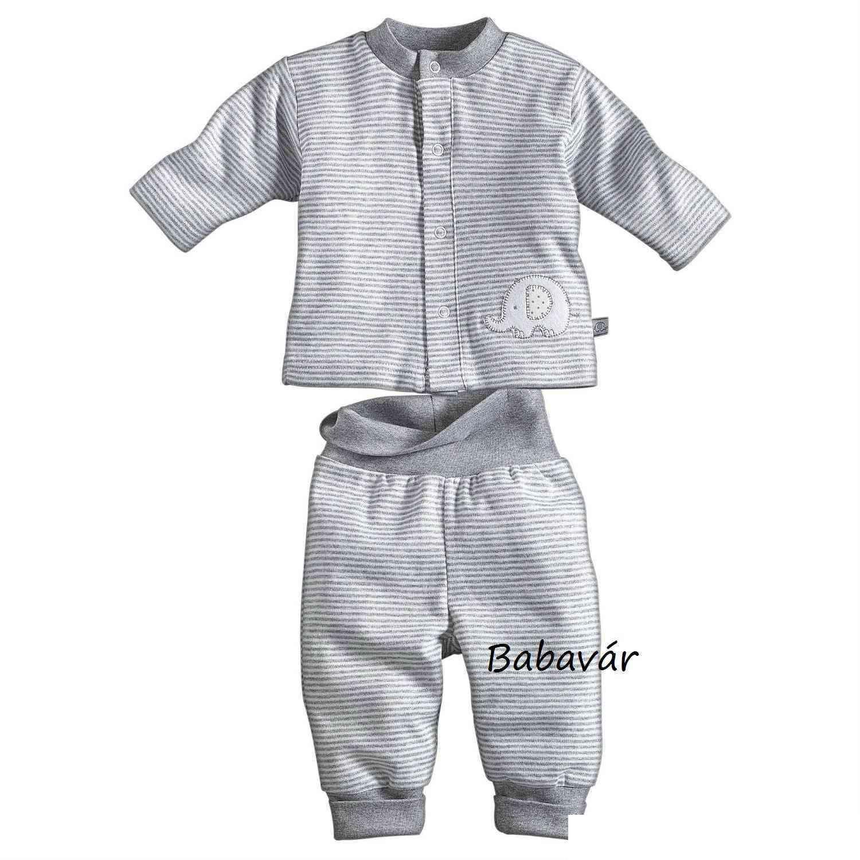 aa8b32cf09 Szürke csíkos/ elefántos baba ruha szett | BabaMamaOutlet.hu