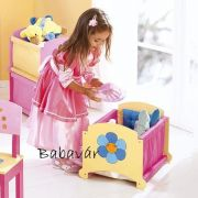 Csillagos rózsaszín Textiles Fa játéktároló