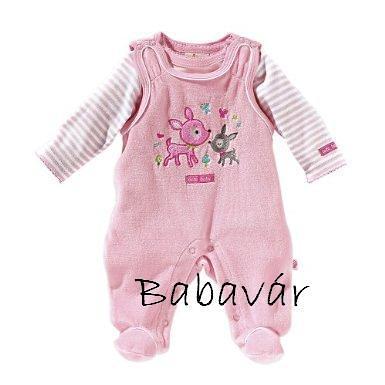 Bornino rózsaszín őzikés rugi szett h.