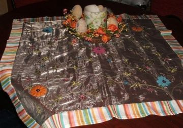 Tavaszi virágos asztalközép