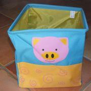 Textil játéktároló: malacos H.