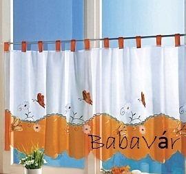 Narancs pillangós vitrázs függöny  8f4d54204d