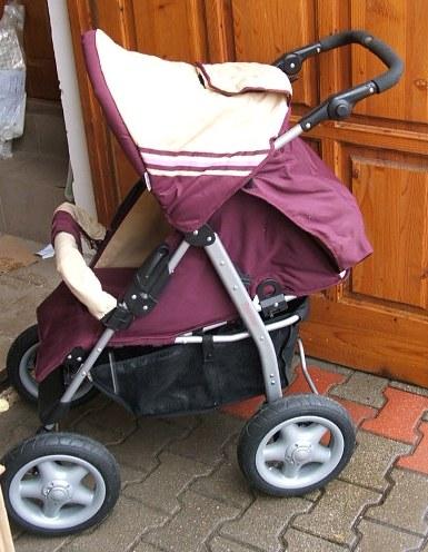 BabyWelt Nevada nagy kerekű sport babakocsi  bordó  9c61b3871f