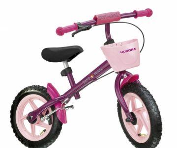 Hudora rózsaszín futó bicikli