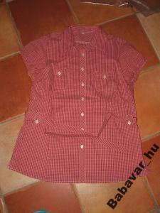 Piros-fehér kockás kismama megkötős ing
