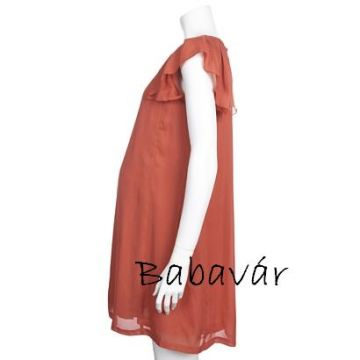 Mama Licious lazac színű elegáns kismama ruha