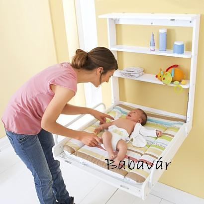 Roba fali pelenkázó  Wall changing shelf 78x67x77 White Jungle Baby