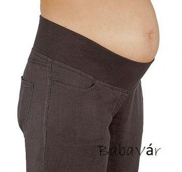 Star Collection barna kismama lenvászon nadrág