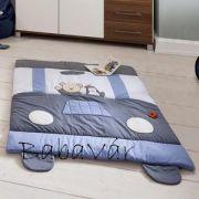 Alvi kék autós macis szőnyeg /  játszószőnyeg