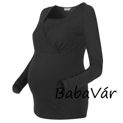 0ad5dcad25 Star Collection fekete szoptatós kismama felső   BabaMamaOutlet.hu