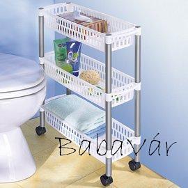 Fürdőszobai mobil tároló polc  BabaVár Baba-KisMama outlet webáruház