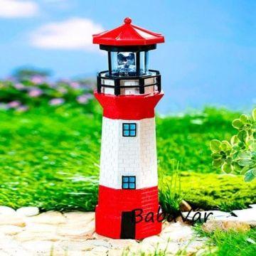 Kerti Dekor: Solar világító torony fekete