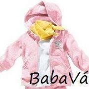 Bornino rózsaszín macis plüss baba kardigán