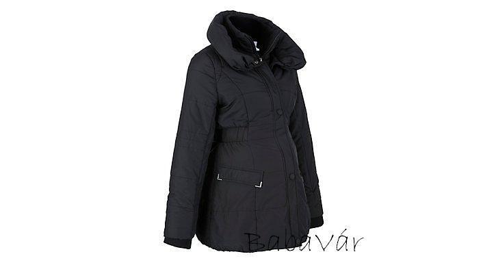 adec9b75cc Mama Licious Fekete kismama kabát | BabaMamaOutlet.hu