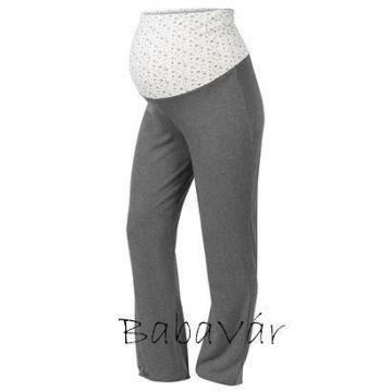 Star Collection csillagos szürke  kismama/szoptatós pizsama