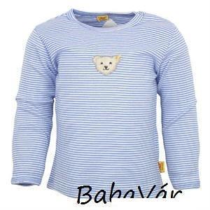 00f0e53399 Steiff kék csíkos macis baba felső | BabaMamaOutlet.hu