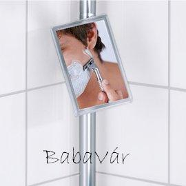 Wenko Premium Teleszkopos fürdőszobai sarokpolc tükörrel