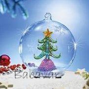 Világítós felakasztható üveg gömb karácsonyfával