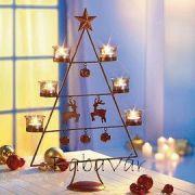 Kovácsoltvas Karácsonyi mécsestartó állvány