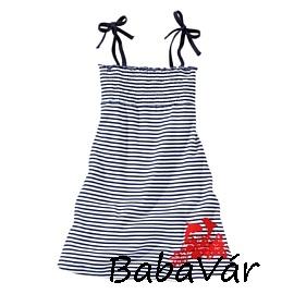 386badbf44 Kék csíkos nyári kislány ruha | BabaMamaOutlet.hu