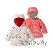 Bornino  rózsaszín mókusos kifordítható kislány kabát