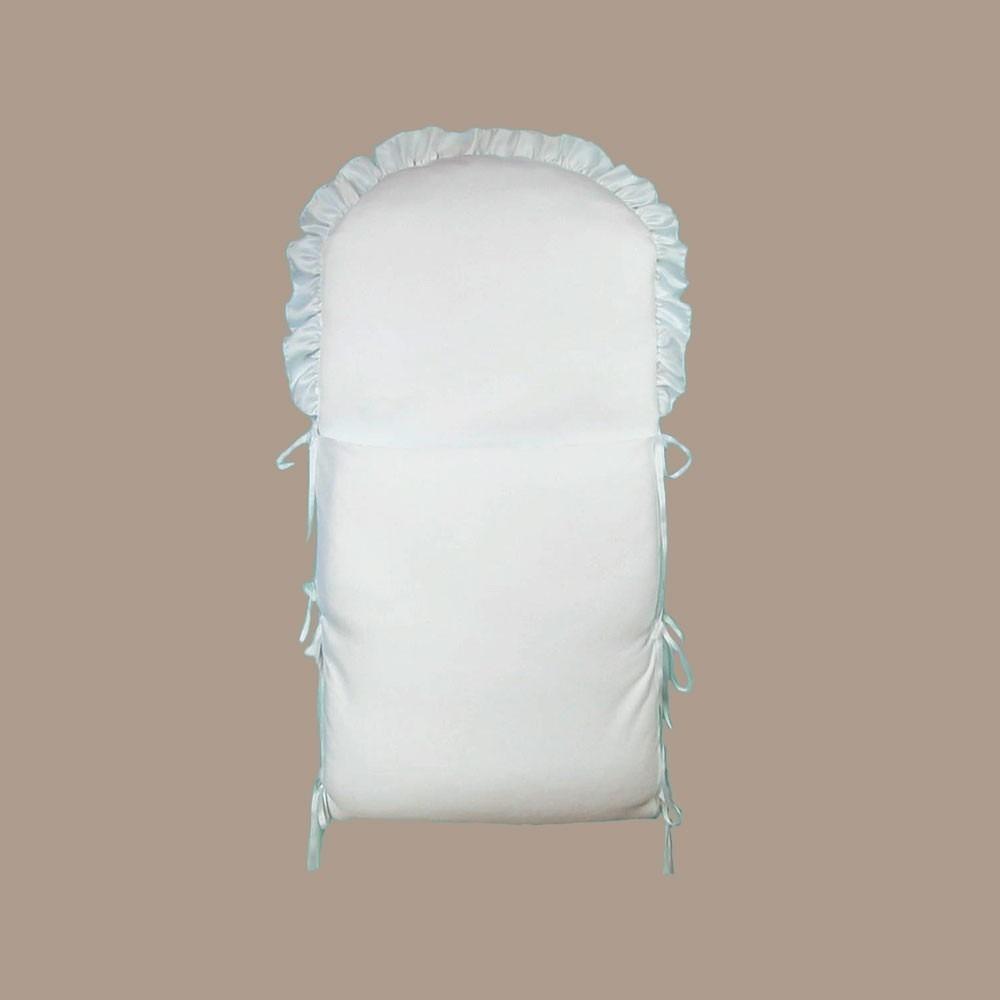 Fehér szatén babapólya keresztelőre