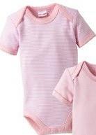 Bornino rózsaszín csíkos rövid ujjú body