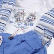 Kanz kék kisfiú pamut együttes: nadrág+póló
