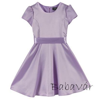 Lila rövid ujjú elegáns kislány ruha  7f46d70965