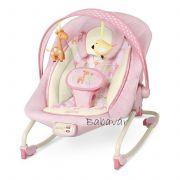 Bright Starts elektromos rezgős zenélős rózsaszín zsiráfos pihenőszék