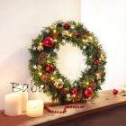Karácsonyi dekor: Ledes világító koszorú