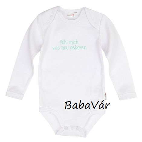 5c32262901 Bornino fehér feliratos hosszú ujjú body | BabaMamaOutlet.hu