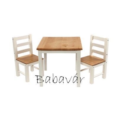 Momo Nathalie tömör fa asztal szett 3 részes