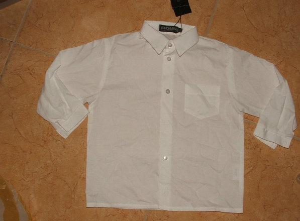 Boys kisfiú hosszú ujjú fehér ing