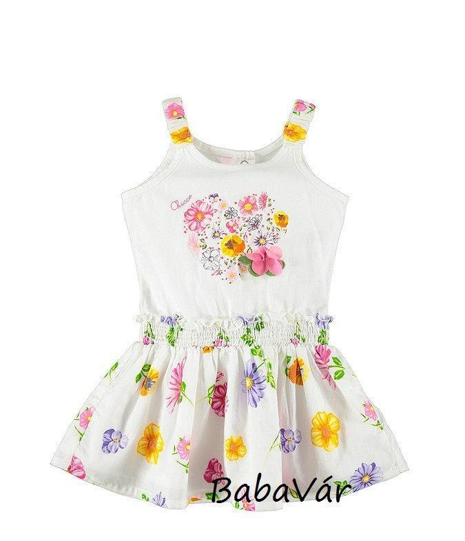 Chicco pamut virág mintás kislány nyári ruha  f806f84a0d