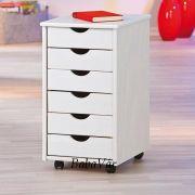 Fehér konténer fából íróasztalhoz