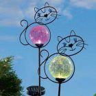 Solár Kertitörpe világító műkő dekor lámpa kék