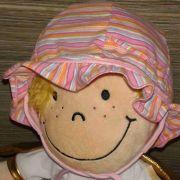 Maximo rózsaszín csíkos baba pamut kalap