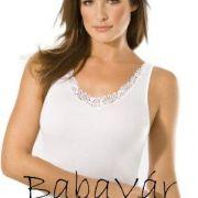Speidel pamut csipkés fehér trikó