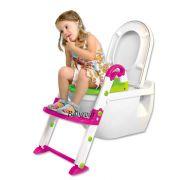 Rotho Kids Kit 3 az 1-ben wc szűkítő, fellépő és bili pink/zöld