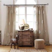 Mirabeau függöny: Mintás lenvászon 240 x 140 cm
