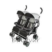 Babycab Twin szürke/fekete Iker babakocsi