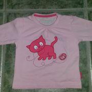 Name it rózsaszín cicás hosszú ujjú baba felső