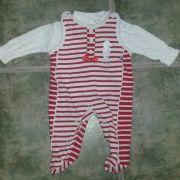 Jacky Baby piros csíkos pamut rugi szett
